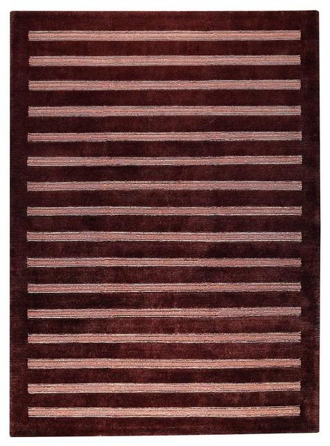 "Contemporary Cisco 4'6""x6'6"" Rectangle Brown Area Rug contemporary-rugs"