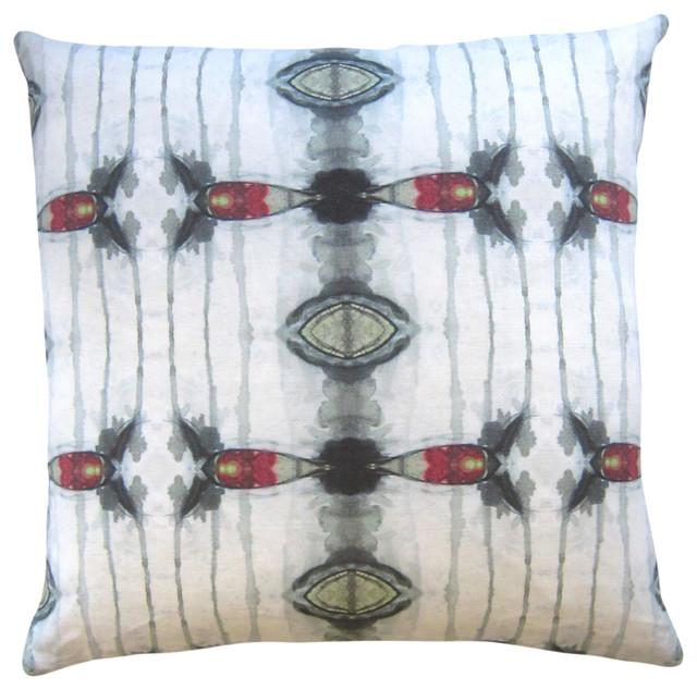 """Kaya Brick 18""""X18"""" Pillow eclectic-decorative-pillows"""