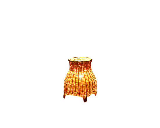 Fateday - Creative Creel Table Lamp - This handmade bamboo table lamp has a lamp shade inspired from creels.  The bamboo used is the first layer of peel long bamboo which is durable, sustainable, and environmentally friendly. The bamboo feels soft with some toughness, which is especially suitable for fine weaving.