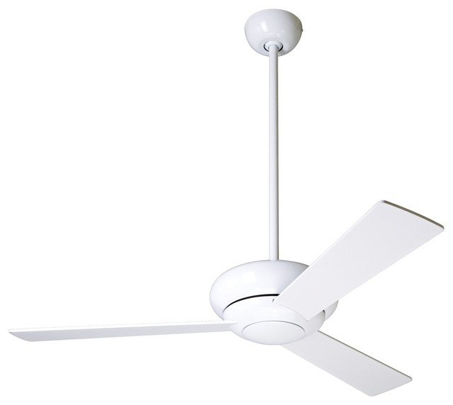 42 Quot Modern Fan Altus Gloss White Modern Ceiling Fan