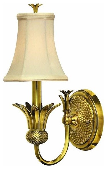 Hinkley Lighting 4880BB 1 Light Sconce Plantation Collection traditional-wall-sconces