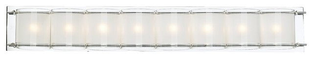 "Possini Euro Design Glass Bands 30 1/2"" Wide Bath Light contemporary-bathroom-lighting-and-vanity-lighting"
