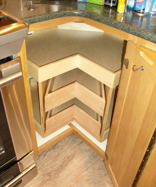 corner cabinet solutions - kitchen drawer organizers