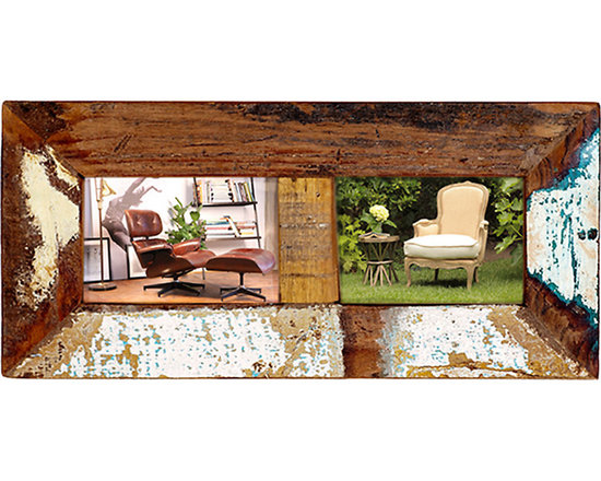 2 Photo Frame - This rustic 2-Photo Frame is perfect for the kitchen, office or bedroom. The frame features distressed paint over a rich brown finish for rustic, casual appeal. Whether alone, or grouped, this frame is a lovely choice for showing off friends, family, and good times.