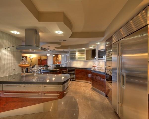 Arlington hi-rise contemporary-kitchen