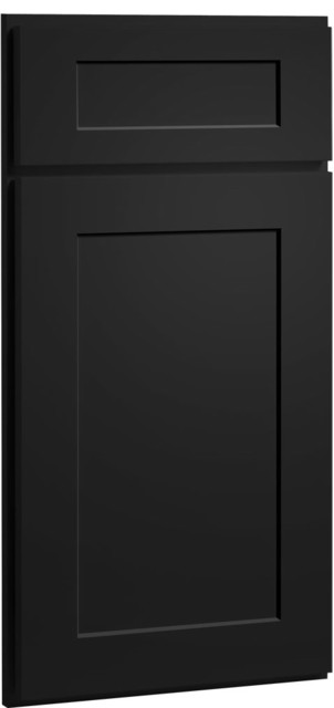 Dayton Door | Painted Carbon Finish | CliqStudios.com Kitchen Cabinets - Contemporary - Kitchen ...