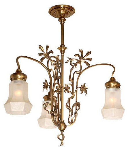 Outstanding Antique Circa 1900 French Art Nouveau