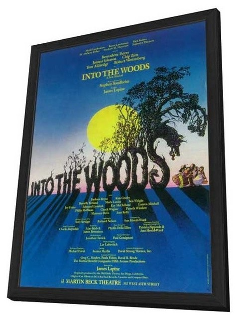 Into the Woods (Broadway) 27 x 40 Poster - Style A - in Deluxe Wood Frame prints-and-posters