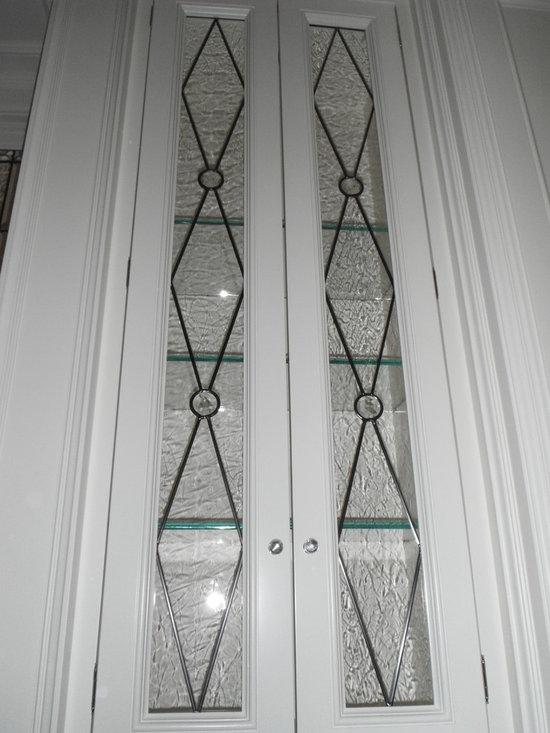 Leaded Glass Gallery Doors -