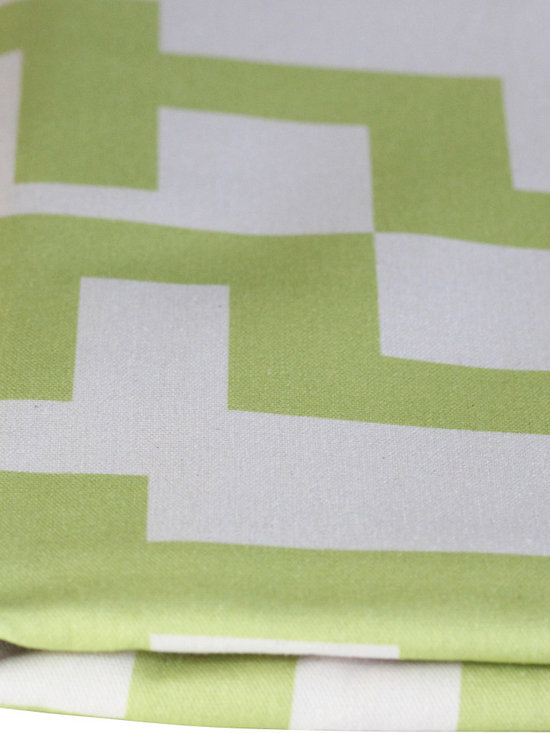 PURE Inspired Design - Maze Pillow, Lime/Natural, Swatch - Maze organic cotton canvas swatch in Lime and Natural.  All our pattern organic fabric is grown, woven, and printed in the USA.