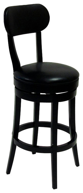 Armen Living Roxy 30 Inch Black Bicast Leather Swivel  : transitional bar stools and counter stools from houzz.com size 276 x 640 jpeg 26kB