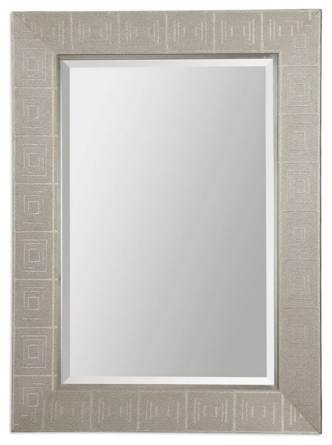 Uttermost 14475  Benedita Silver Mirror transitional-mirrors