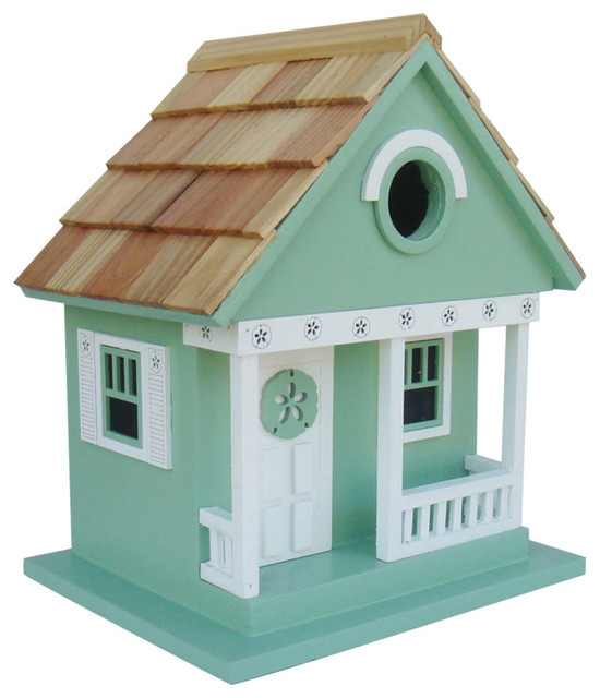 Sand Dollar Cottage Birdhouse Teal Beach Style