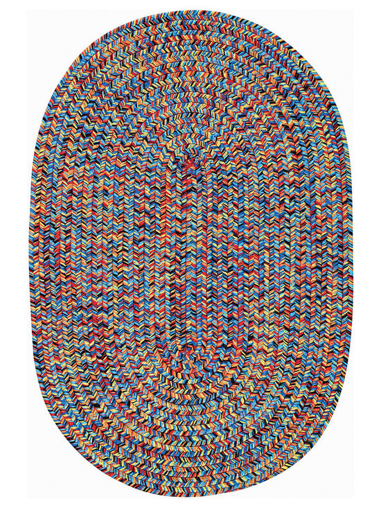 Woodrun rug in Fiesta Bright Multi - Woodrun is part of the Capel Anywhere™ collection of indoor/outdoor braided rugs. Fresh colors in solid or heathered yarns keep pace with today's casual home trends.
