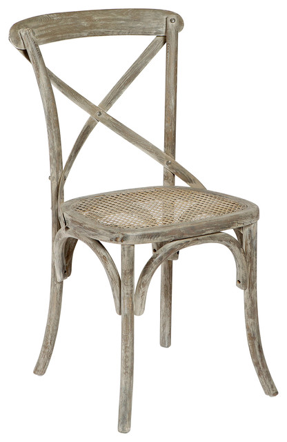 Classic Parisian Swedish Gustavian White Wash Cafe Chair- Set of 2 dining-chairs