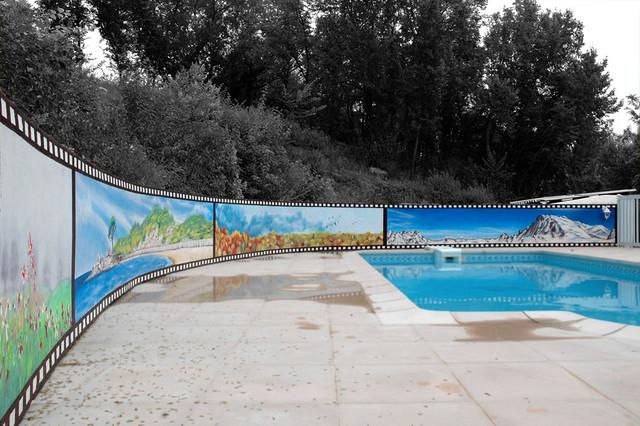 Les Quatre Saisons Autour D 39 Une Piscine Craftsman Pool