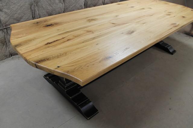 10ft custom oak dining table farmhouse dining tables for 10 foot farmhouse table plans