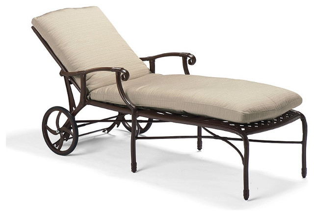 Venice Outdoor Chaise Lounge Chair With Cushions Patio Furniture Tradition