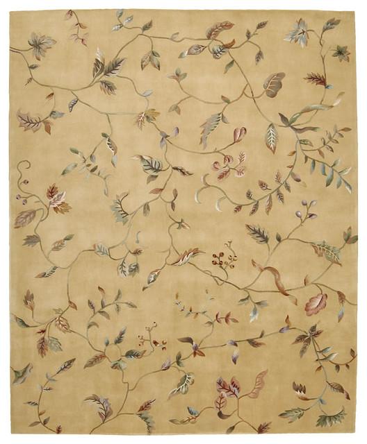 "Julian JL74 2'3"" x 8' Gold Runner Rug traditional-rugs"