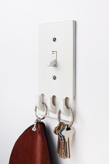 Switchhooks: light switch with key hooks - modern - hooks and .