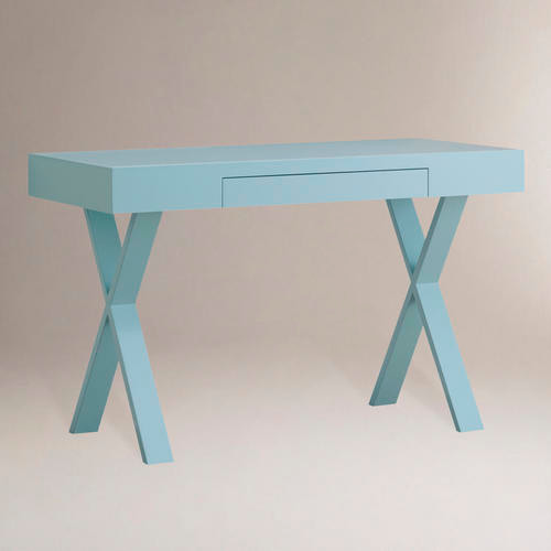 Light Blue Josephine Desk - Modern - Desks And Hutches - by Cost Plus