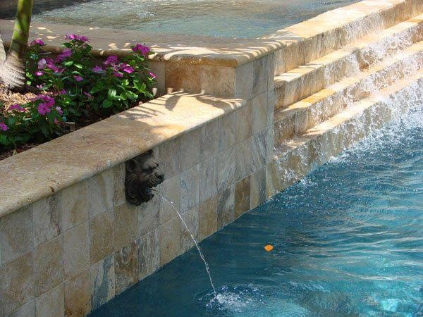 Travertine Tile New Jersey mediterranean outdoor fountains