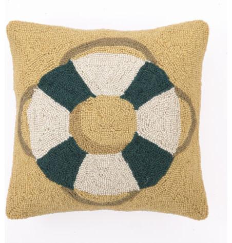 "Life Preserver Hook Pillow 16X16"" contemporary-decorative-pillows"