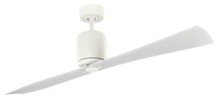 "60"" Ferron 60"" Ceiling Fan Satin Natural White contemporary-ceiling-fans"