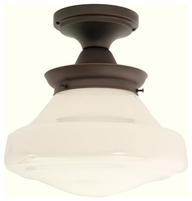 Creighton Semi-Flushmount Light Fixture traditional-ceiling-lighting