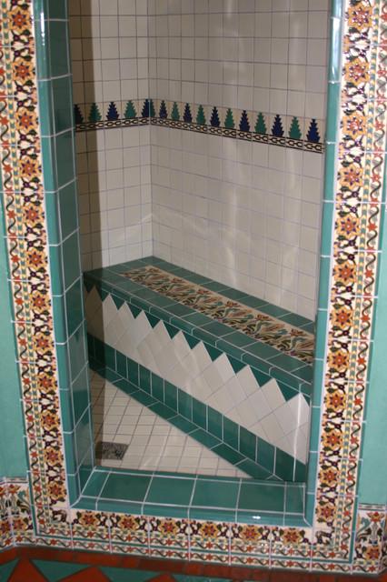 Malibu Tile mediterranean-showers