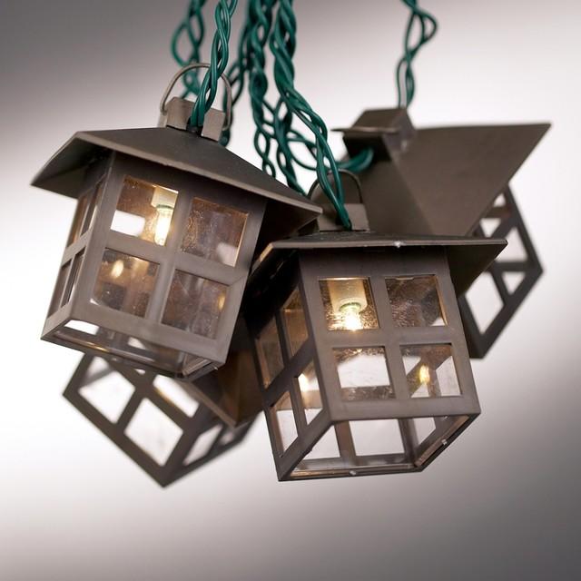 Mission Style Lantern String Party Lights Craftsman