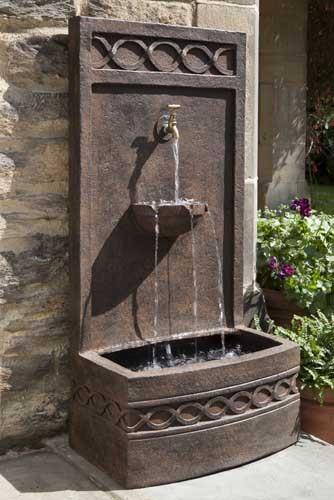 Siena floor fountain traditional outdoor fountains and for Floor fountain