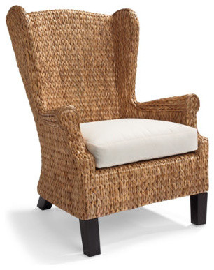 Santino Wing Chair - Grandin Road traditional-chairs