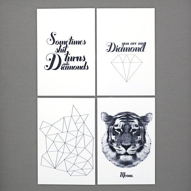 4 Korttia modern-artwork