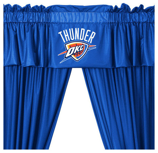 Nba Oklahoma City Thunder Drape Basketball Valance Set