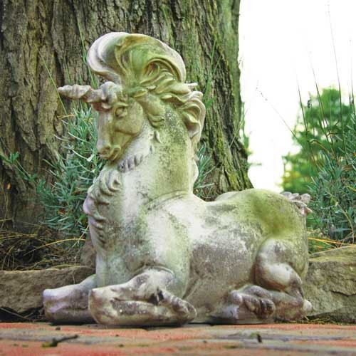 Unicorn Garden Statue traditional-garden-statues-and-yard-art