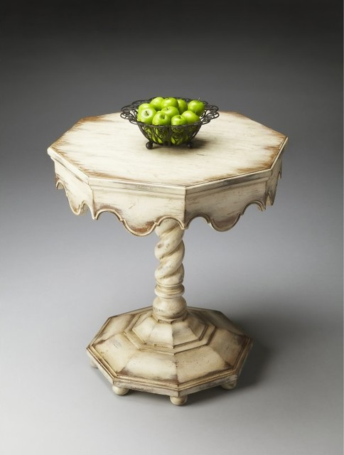 Butler Octagonal Accent Table - Alabaster Multicolor - 2132258 contemporary-furniture