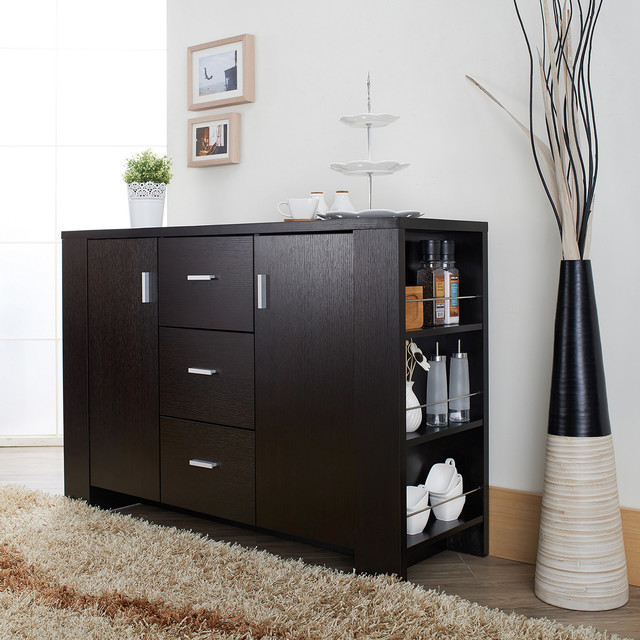 Furniture of America Clayton Cappuccino-finish Dining Buffet contemporary-buffets-and-sideboards