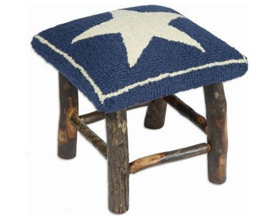 Blue Star Hickory Stool -