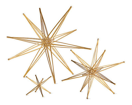 Foldable Star Sculptures - Foldable sculptured stars would come out for a dinner and quickly be packed away.