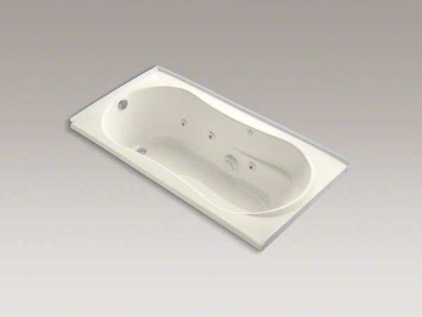 "KOHLER 7236 72"" x 36"" alcove whirlpool with tile flange, left-hand drain and hea contemporary-bathtubs"