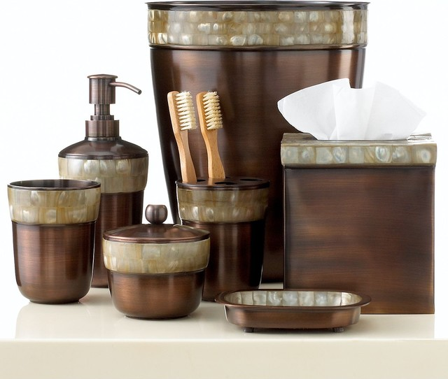 Paradigm bath accessories opal copper collection for Contemporary bathroom accessories
