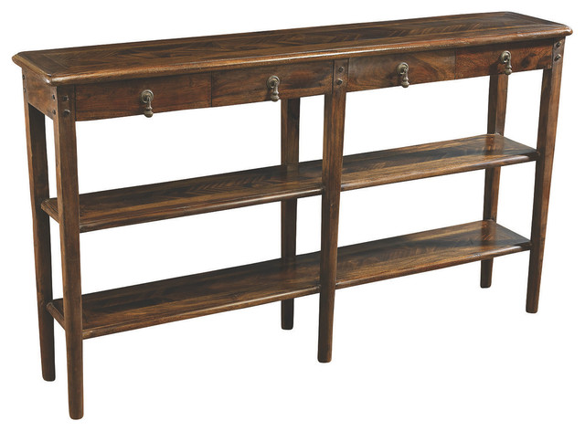 sarah 2 shelf console pecan contemporary console tables. Black Bedroom Furniture Sets. Home Design Ideas