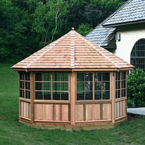 Building an octagonal greenhouse