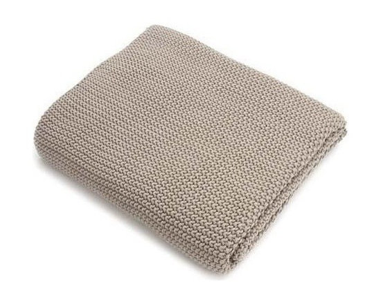 Belle & June - Stone Cotton Blanket - It won't take you long to warm up to this throw. It's so soft and cozy in 100 percent cotton and comes in host of gentle neutral colors — pick the one that's perfect for playing off the tones and patterns of your decor.