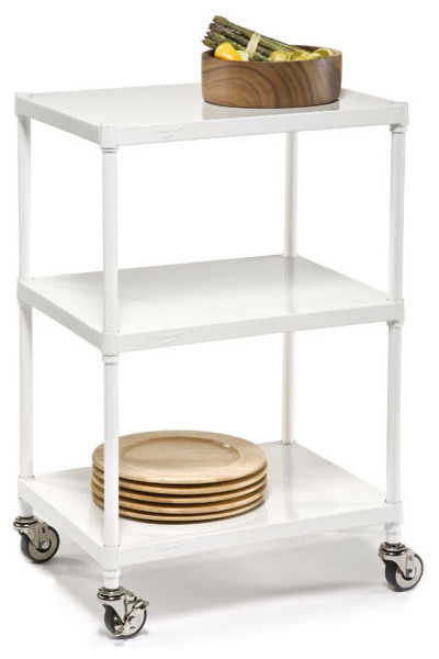 Solid Shelf Serving Cart modern bar carts