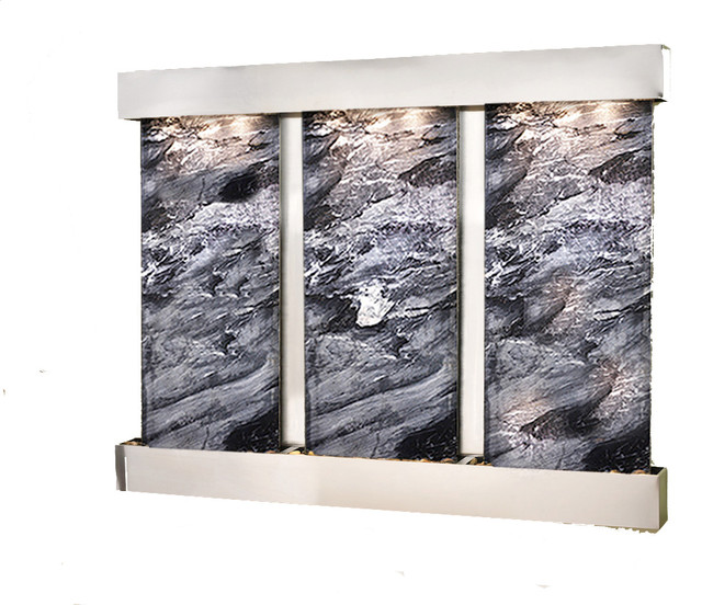 The deep creek falls customizable wall water features - Modern indoor water feature ...