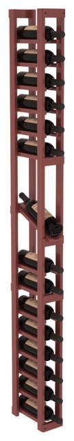 1 Column Display Row Wine Cellar Kit in Pine, Cherry + Satin Finish contemporary-wine-racks