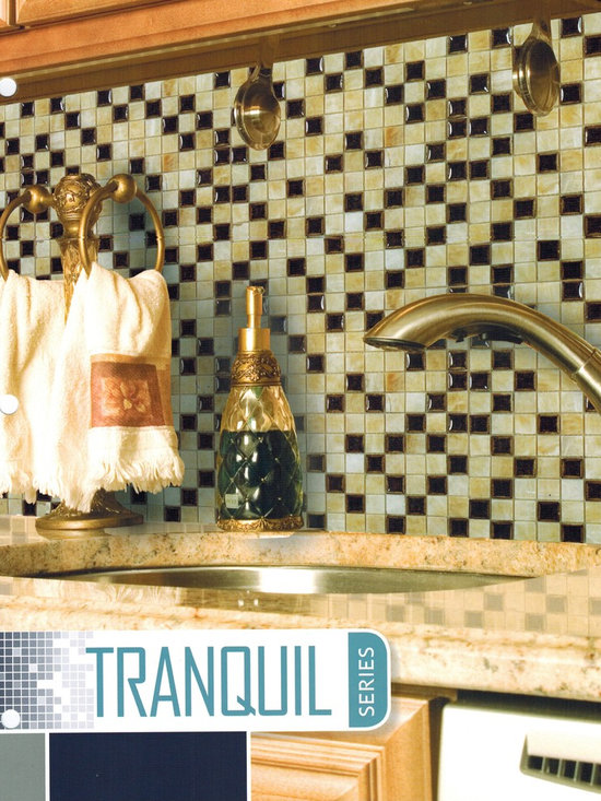 Tranquil glass tile mosaic by Nova