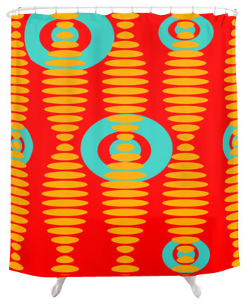 Crash Pad Designs Funky Shower Curtain- Abe contemporary-shower-curtains